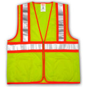 Tingley® V70642 Job Sight™ Two-Tone Class 2 Vest, Fluorescent Lime, L/XL