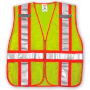Tingley® V70832 Job Sight™ Class 2 Adjustable Vest, Fluorescent Lime, 2XL/5XL
