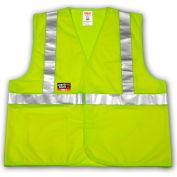 Tingley® V81622 Job Sight FR™ Class 2 Safety Vest, Fluorescent Lime, L/XL
