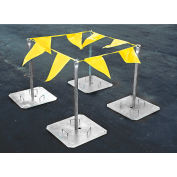 Tie Down Engineering Warning Line System, Galvanized Steel, 4 Stanchions And 100' Pennants