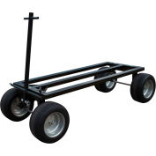 "Roof Zone Cart With Flat Free Tires, 30""W x 72""L, Yellow, 65028"