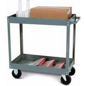 "Tri-Boro Economy 2 Shelf Stock Cart ESC2436-2 22 Gauge Steel 36 x 24 with 3"" Lip, 500 Lb. Cap."