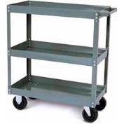 Tri-Boro Heavy Duty 3 Shelf Stock Cart SC1630-3 18 Gauge Steel 30 x 16 with 2-1/4 Lip, 1000 Lb. Cap.