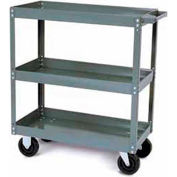Tri-Boro Heavy Duty 3 Shelf Stock Cart SC2436-3 18 Gauge Steel 36 x 24 with 2-1/4 Lip, 1000 Lb. Cap.