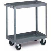 Tri-Boro Heavy Duty 2 Shelf Stock Cart SC2448-2 18 Gauge Steel 48 x 24 with 2-1/4 Lip, 1000 Lb. Cap.