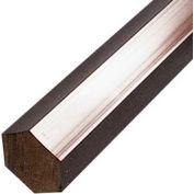 AIN Plastics Extruded Nylon 6/6 Plastic Hex Rod Stock, 9/16 in. Dia. x 96 in. L, Natural