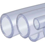 AIN Plastics PVC Plastic Tube Stock, Schedule 40, 2-1/2 in. Dia. x 96 in. L, Clear