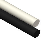 AIN Plastics UHMW Plastic Rod Stock, 10 in. Dia. x 120 in. L, Black