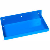 "Triton 126 12"" W x 6"" Deep Blue Epoxy Coated Steel Shelf for DuraBoard"