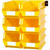 LocBin Wall Storage, 3-240YWS, W/Rails, Large, Yellow (8 pc)
