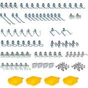 DuraHook Kit, 76983, 79 Hooks/4 Bins