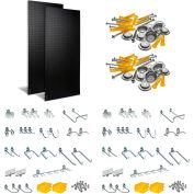 "Triton DB-2BK Kit (2) 24"" W x 48"" H x 3/16"" D Black PolyPegboards W/ 48 pc. DuraHook Set"
