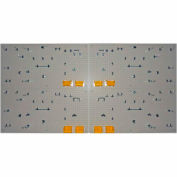 Heavy-Duty Polypropylene Pegboard Pack Of 4 With 96 Piece Kit