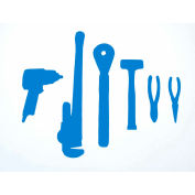 "LocMat Tool Overlay, LB1260-Blue, 60""W x 12""H x 20MM, Blue"