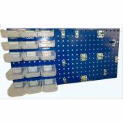 Triton LB18-1BHBTR-Kit (1) 18 ga Blue Steel Square Hole Pegboard W/ (43 pc) Bins, Clips & Hooks