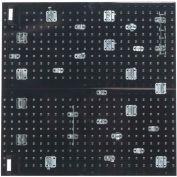 Triton LB18-BKKit (2) 18 ga Black Steel Square Hole Pegboard W/ (30 pc) Lochook & Bin Set