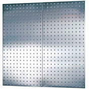 "Triton LB18-S (2) 18"" W x 36"" H x 1/2"" D Stainless Sq. Hole Pegboards W/ Wall Mounting HW"