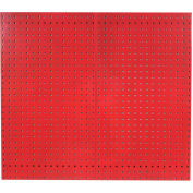 "LocBoard® Steel Pegboard, Red, 42-1/2""H X 24""W (2 PC)"