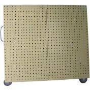 "LocBoard® Aluminum Frame Mobile Tool Cart, Tan 48 ""L x 46 ""H x 26-5/8 ""W"