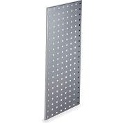 """LocBoard™ Square Hole Pegboard Strip, 30""""Wx12""""H, Silver Epoxy"""