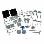Triton LH3-KIT 30 Pc Zinc Plated Steel Hook & Bin Assortment for LocBoard (28 Asst Hooks & 2 Bins)