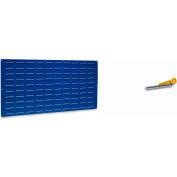 "Louvered Panel, LVP-1, 24""H x 48""W, Blue Epoxy, 1 Pk"