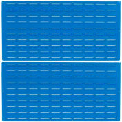 "Louvered Panel, LVP-2, 24""H x 48""W, Blue Epoxy, 2 PK"