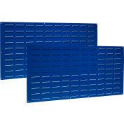 "Louvered Panel, LVP-2, 24""H x 48""W, Blue Epoxy, 2 PK"