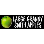 Granny Smith Apples - Large Grocery Signs (2-Track Photo Real Insert)