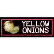Yellow Onions Grocery Signs (3-Track Chalk Art Insert)