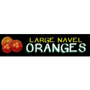 Large Navel Oranges Grocery Signs (2-Track Chalk Art Insert)