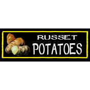 Russet Potatoes Grocery Signs (3-Track Chalk Art Insert)