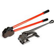 "Teknika Tool Set for Steel Strapping w/ Tensioner & Sealer, 1-1/4"" Strap Width"