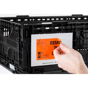 """Kennedy Group Board Container Placard Label Holder IPX-9 2 Holes, w/""""Place Label Here"""" 4-1/2 x 6-1/2 - Pkg Qty 100"""