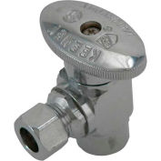 "Keeney 2047pclf, Quarter Turn Angle Valve 3/8"" F.I.P Inlet X 3/8"" O.D. Outlet, Lead Free - Pkg Qty 24"