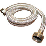 Washing Machine Supply Hose 3/4 In. F.H.T. X 3/4 In. F.H.T. X 48 In. - Braided Stainless Steel - Pkg Qty 10
