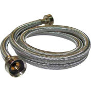 Washing Machine Supply Hose 3/4 In. F.H.T. X 3/4 In. F.H.T. X 60 In. - Braided Stainless Steel - Pkg Qty 10