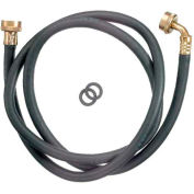 Washing Machine Hose 3/4 In. F.H.T. X 3/4 In. F.H.T. X 72 In. W/90 Degree Elbow - Reinforced Rubber - Pkg Qty 20