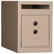 "Tracker Safe Front Drop Slot Depository Safe  - DS090612-K - Dual Key Lock - 6""W x 12""D x 9""H  Cream"