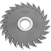 "HSS Import Plain Teeth Side Milling Cutter, 2 DIA x 1/4"" Face x 5/8"" Hole"