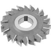 "HSS Import Staggered Tooth Side Milling Cutter, 4"" DIA x 3/4"" Face x 1-1/4"" Hole x 18 Teeth"