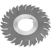 "HSS Import Metal Slitting Saw Staggered, Side Chip Clear, 4"" DIA x 3/32"" Face x 1"" Hole,"