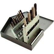 Tap & Drill Sets, HSS in Metal Index, 18 Pc. Set National Coarse