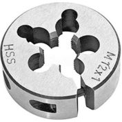 "M12x1.25 HSS, ISO Metric Import Round Adjustable Die, Fine Thread, 1-1/2"" OD"