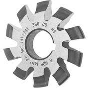 HSS Import Involute Gear Cutters, 14.5 ° Pressure Angle, DP 5-1.1/4 #6