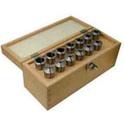 "R8 Spring Collet, 13 Piece Set 1/8 to 7/8"" Round, Import"