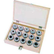 ER16 Spring Collet Set, 7 Piece, 1/8 to 3/8, Import