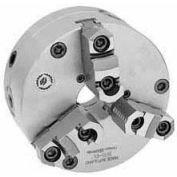 "Bison 3-Jaw (2 Piece) SET-TRU Chuck Forged Steel, Plain Back, 8"" Fine Adjustable"