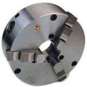 """Bison 3-Jaw (Solid) SET-TRU Chuck Forged Steel, Plain Back, 12"""" Fine Adjustable"""
