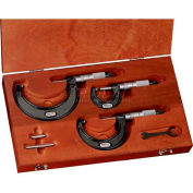 """Starrett 68038 ST436.1AXFLZ Micrometer Set, 0 to 6"""" Range, .0001 Graduation"""